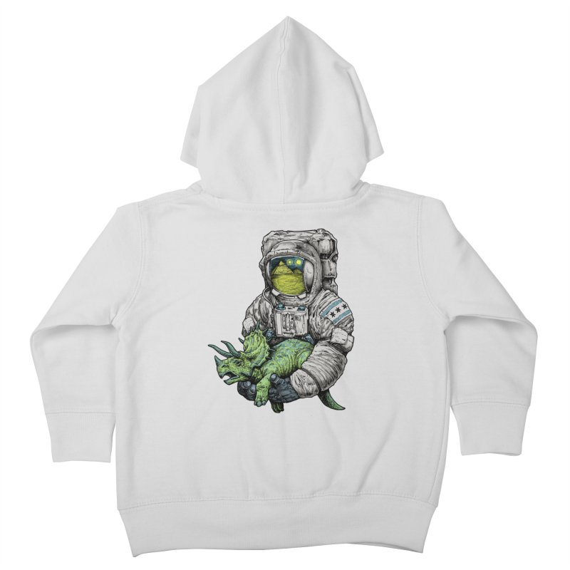 Astro Dino Kids Toddler Zip-Up Hoody by Octophant's Artist Shop