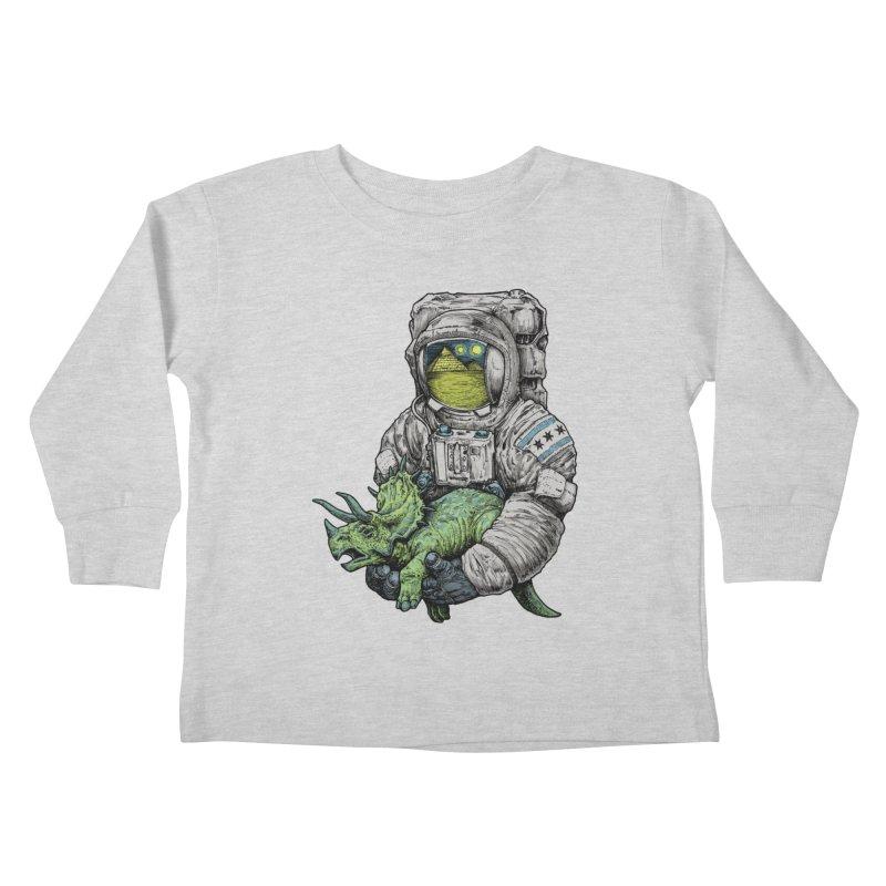 Astro Dino Kids Toddler Longsleeve T-Shirt by Octophant's Artist Shop