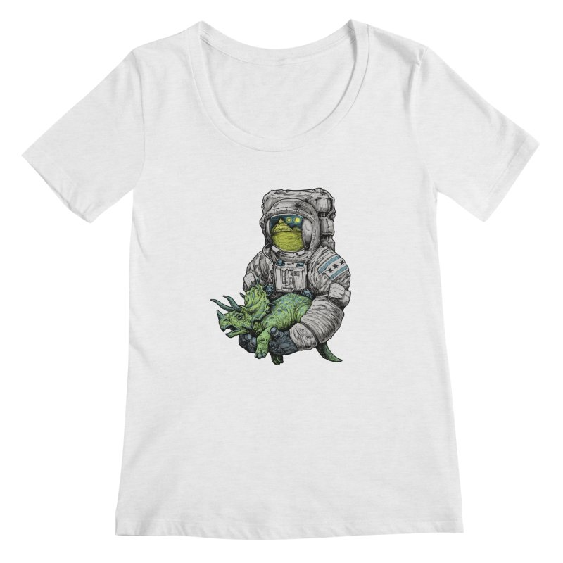 Astro Dino Women's Scoopneck by Octophant's Artist Shop