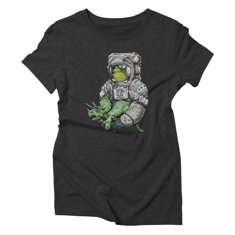 Astro Dino Women's Triblend T-shirt by Octophant's Artist Shop