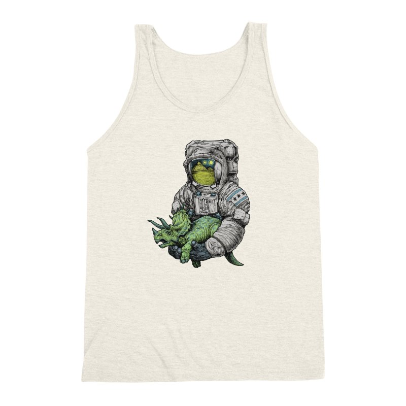 Astro Dino Men's Triblend Tank by Octophant's Artist Shop