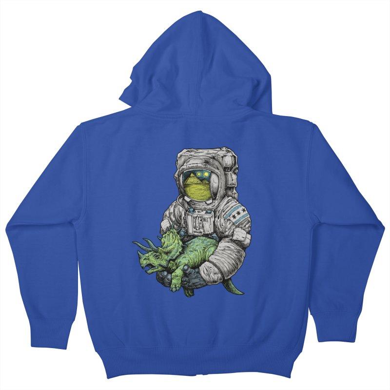 Astro Dino Kids Zip-Up Hoody by Octophant's Artist Shop