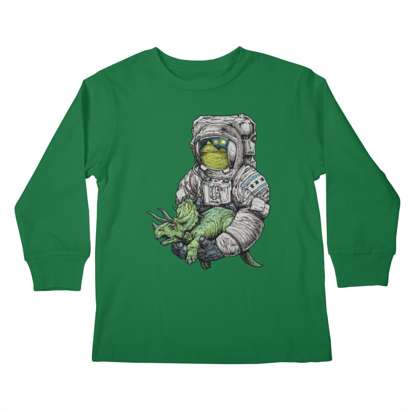 Astro Dino Kids Longsleeve T-Shirt by Octophant's Artist Shop
