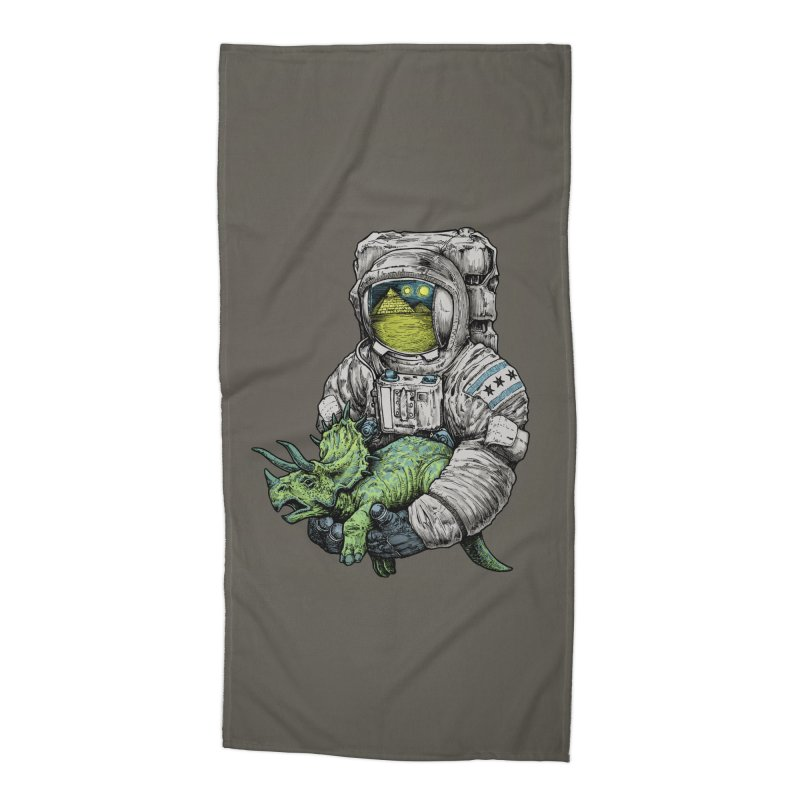 Astro Dino Accessories Beach Towel by Octophant's Artist Shop