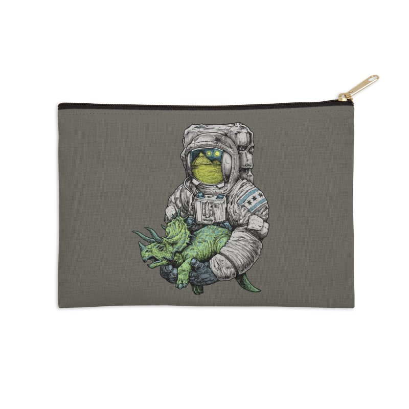 Astro Dino Accessories Zip Pouch by Octophant's Artist Shop