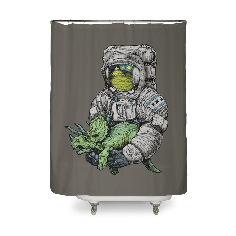 Astro Dino Home Shower Curtain by Octophant's Artist Shop