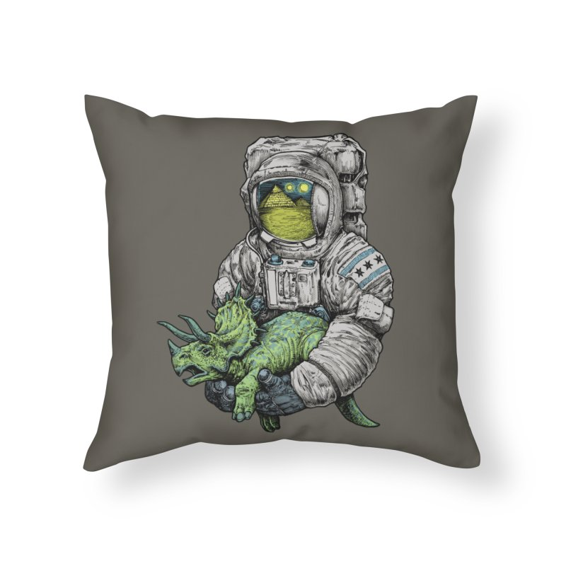 Astro Dino Home Throw Pillow by Octophant's Artist Shop