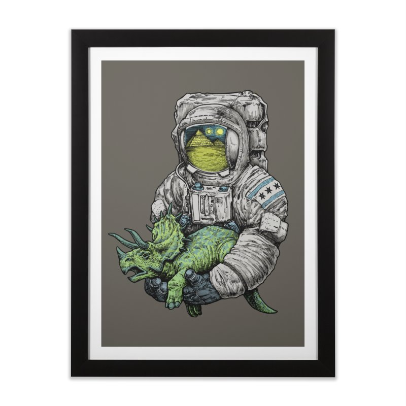 Astro Dino Home Framed Fine Art Print by Octophant's Artist Shop