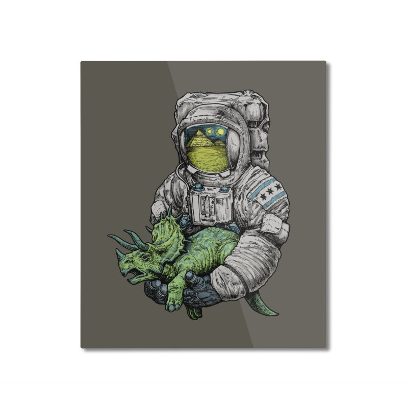 Astro Dino Home Mounted Aluminum Print by Octophant's Artist Shop