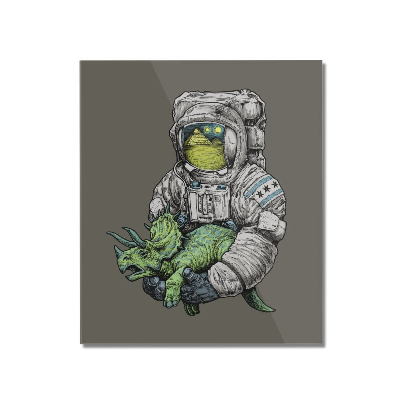 Astro Dino Home Mounted Acrylic Print by Octophant's Artist Shop