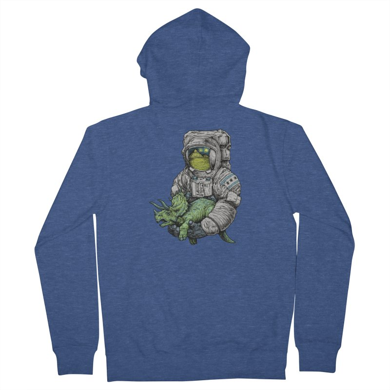 Astro Dino Women's French Terry Zip-Up Hoody by Octophant's Artist Shop