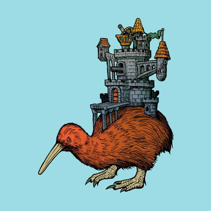Kiwi Castle None  by Octophant's Artist Shop