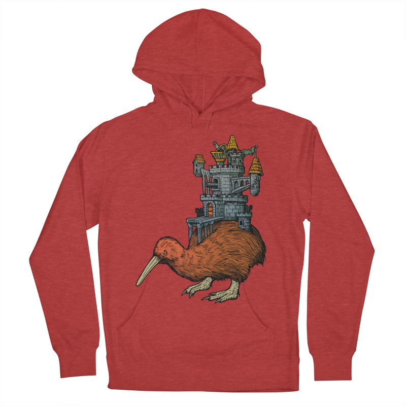 Kiwi Castle Women's French Terry Pullover Hoody by Octophant's Artist Shop