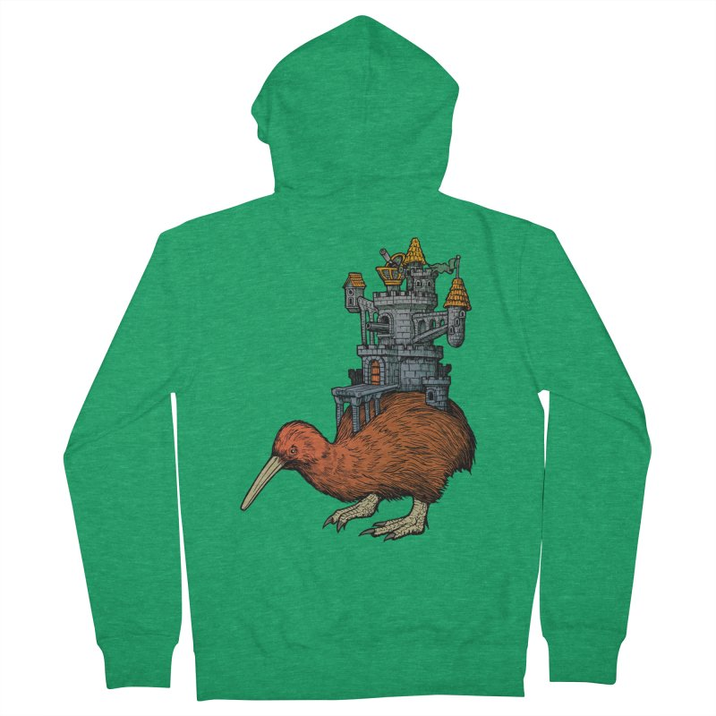 Kiwi Castle Women's French Terry Zip-Up Hoody by Octophant's Artist Shop