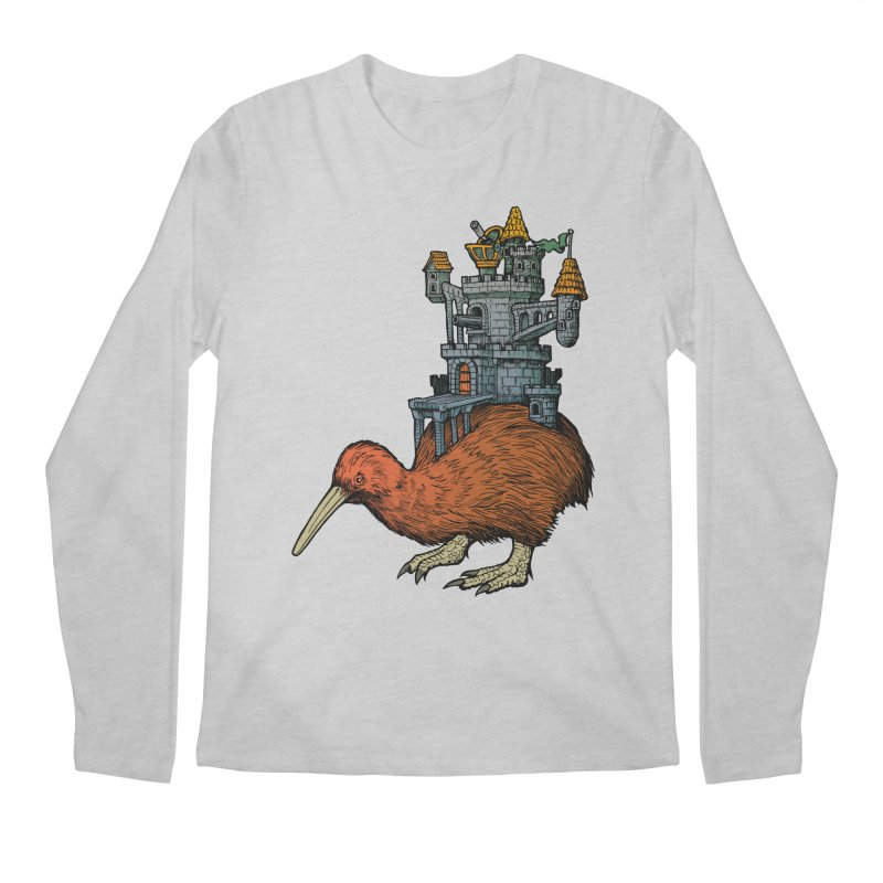 Kiwi Castle Men's Regular Longsleeve T-Shirt by Octophant's Artist Shop