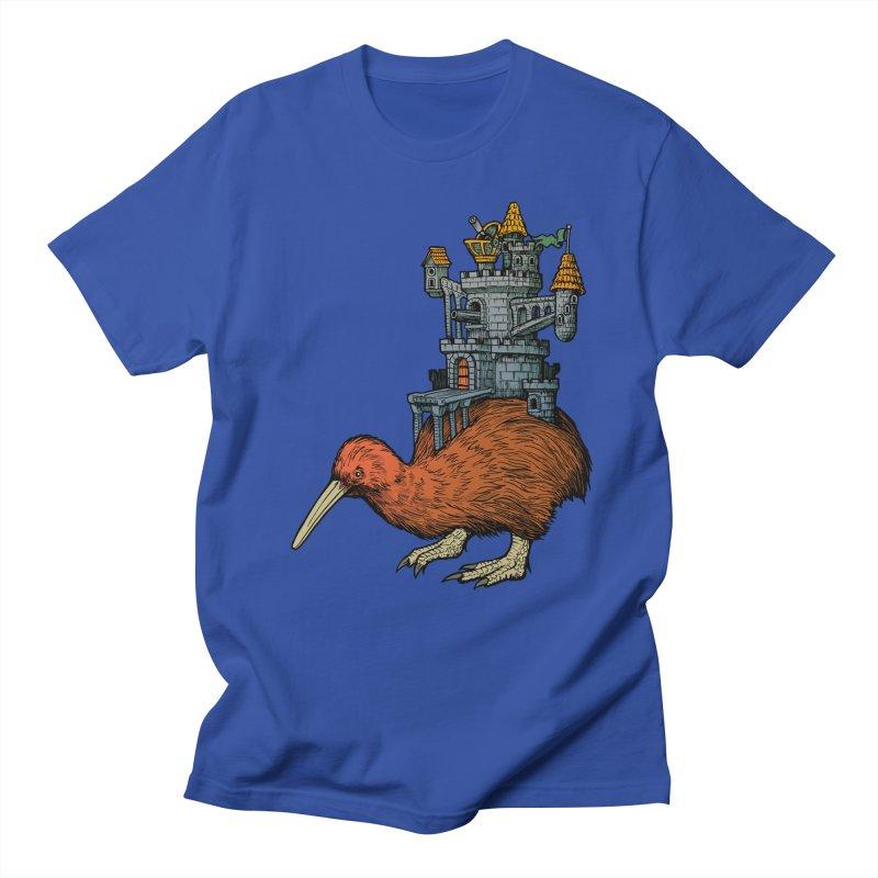 Kiwi Castle Men's T-shirt by Octophant's Artist Shop