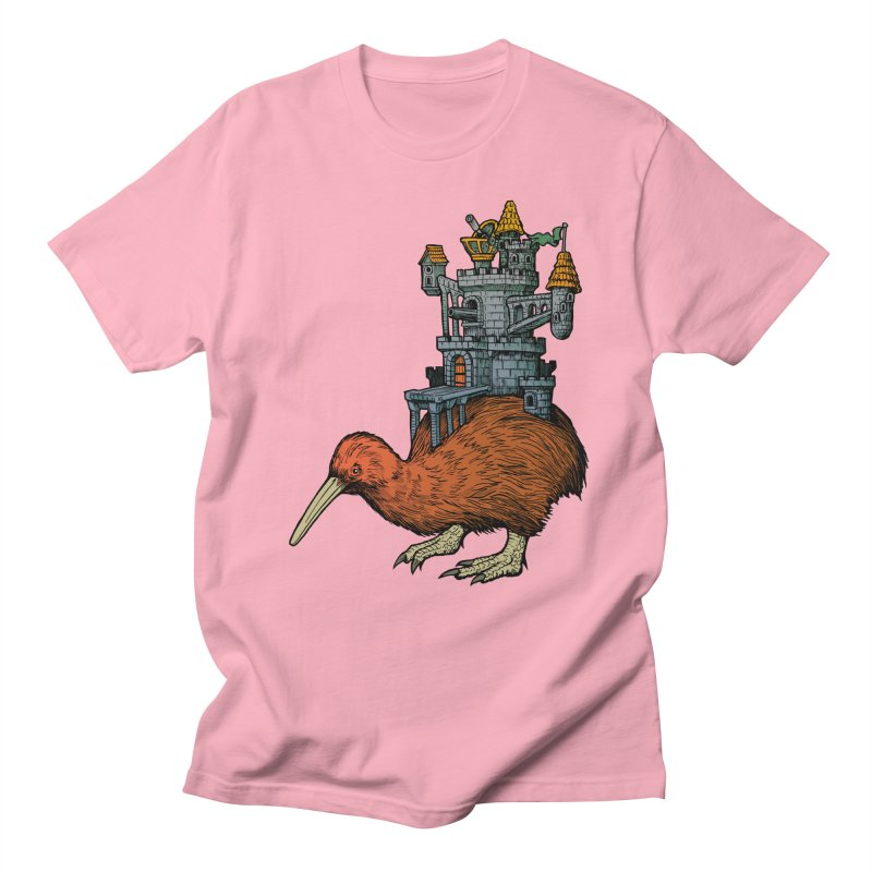 Kiwi Castle Men's Regular T-Shirt by Octophant's Artist Shop