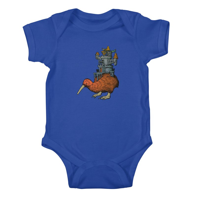 Kiwi Castle Kids Baby Bodysuit by Octophant's Artist Shop