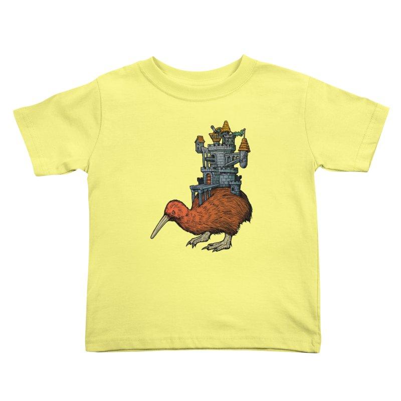 Kiwi Castle Kids Toddler T-Shirt by Octophant's Artist Shop