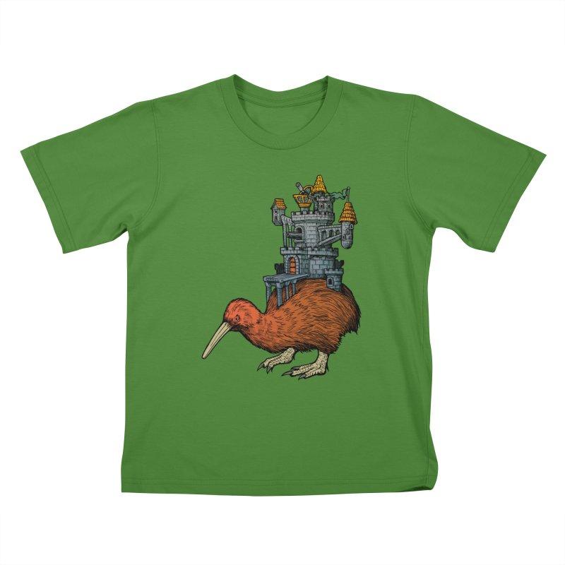 Kiwi Castle Kids T-Shirt by Octophant's Artist Shop