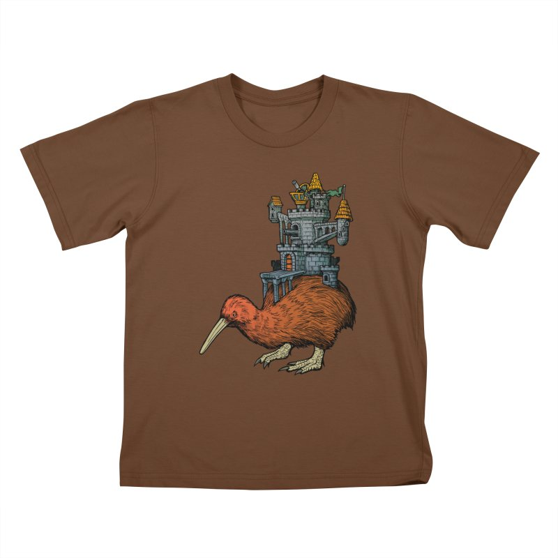 Kiwi Castle Kids T-shirt by Octophant's Artist Shop