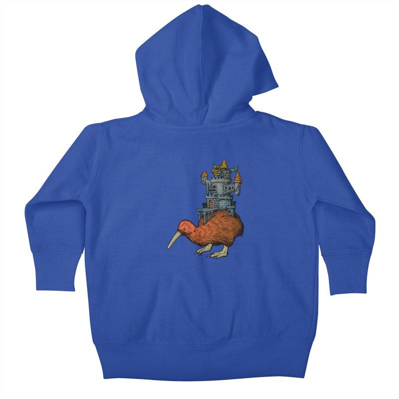 Kiwi Castle Kids Baby Zip-Up Hoody by Octophant's Artist Shop