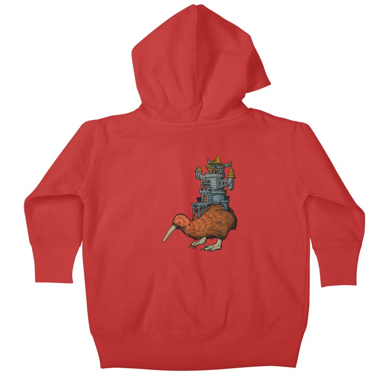 Kiwi Castle Kids Baby Zip-Up Hoody by Octophant's Artist Shop