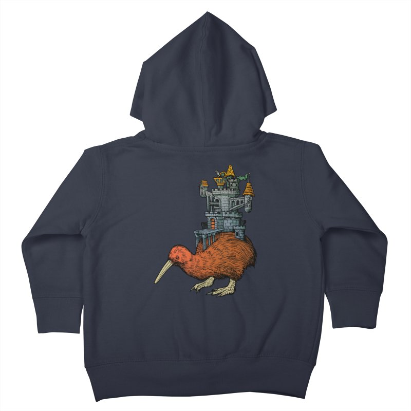 Kiwi Castle Kids Toddler Zip-Up Hoody by Octophant's Artist Shop