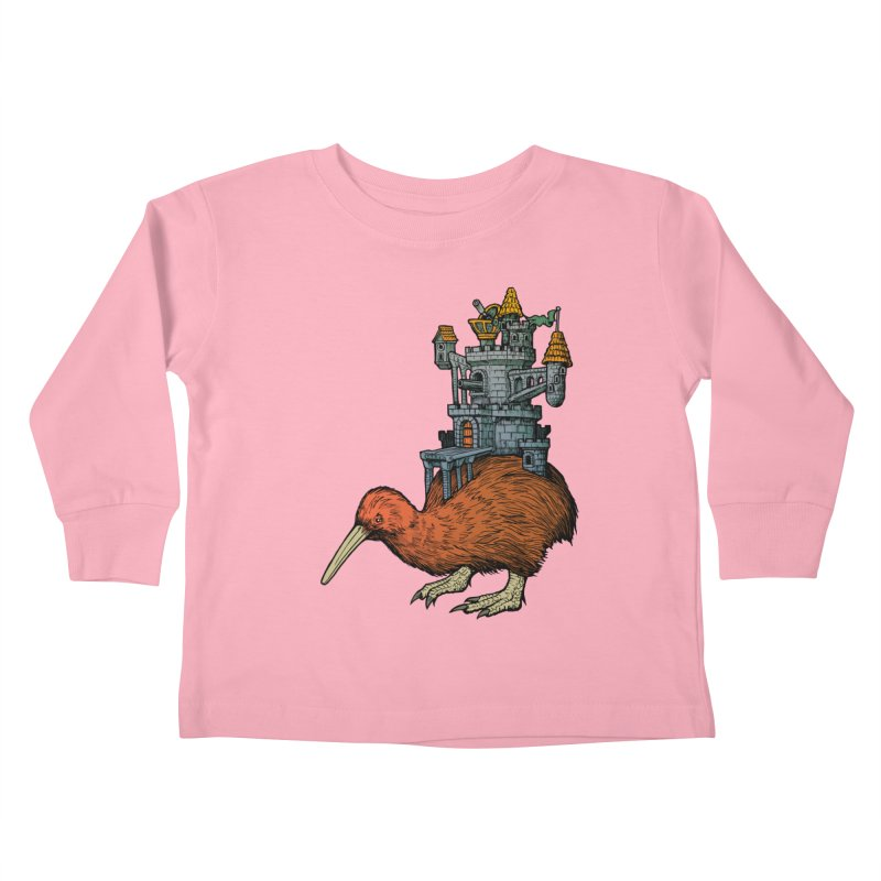 Kiwi Castle Kids Toddler Longsleeve T-Shirt by Octophant's Artist Shop