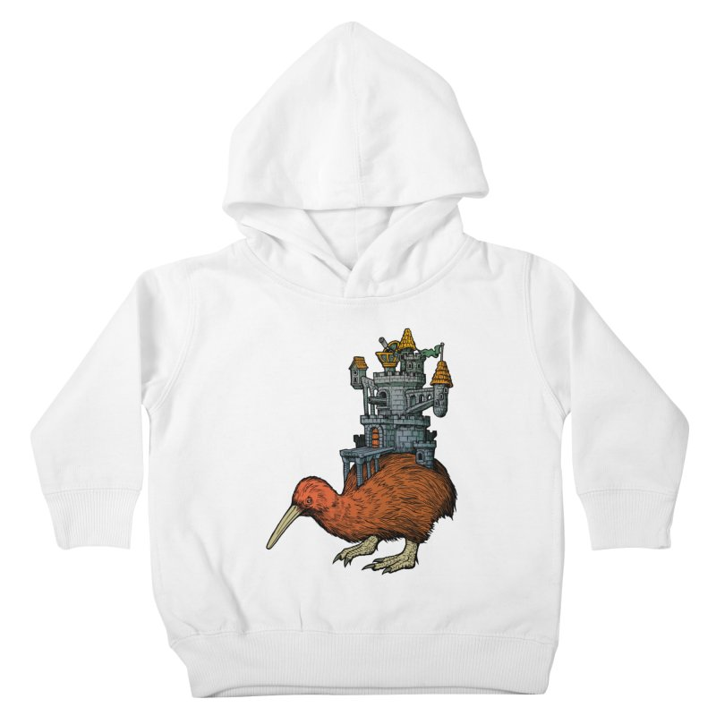 Kiwi Castle Kids Toddler Pullover Hoody by Octophant's Artist Shop