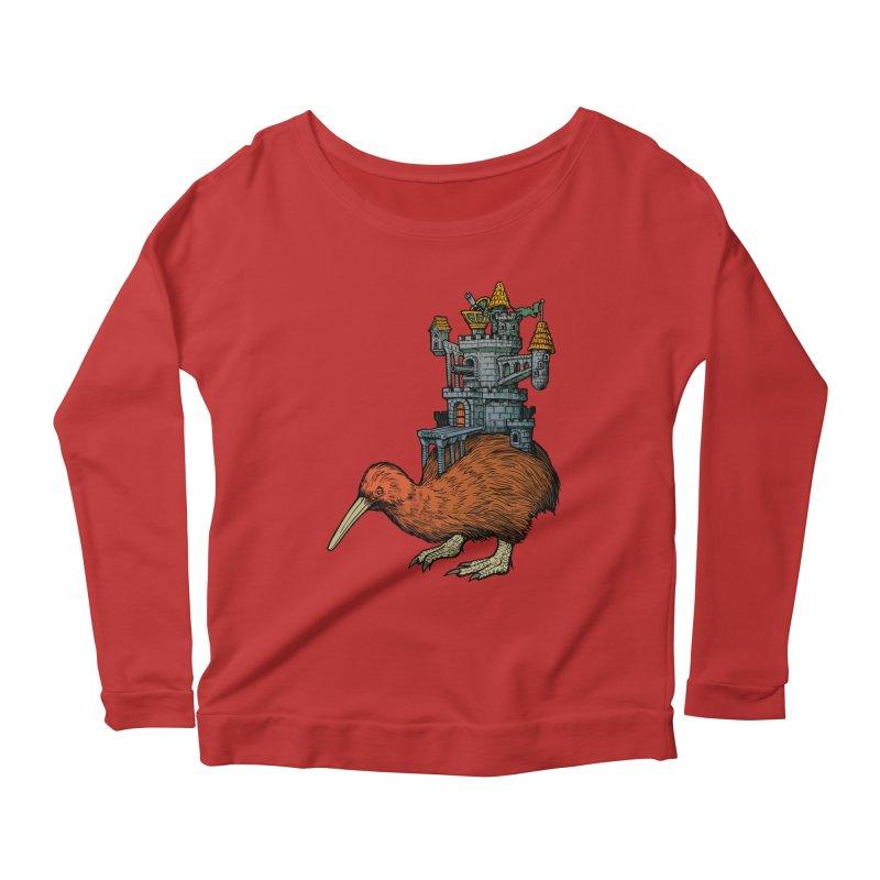 Kiwi Castle Women's Scoop Neck Longsleeve T-Shirt by Octophant's Artist Shop