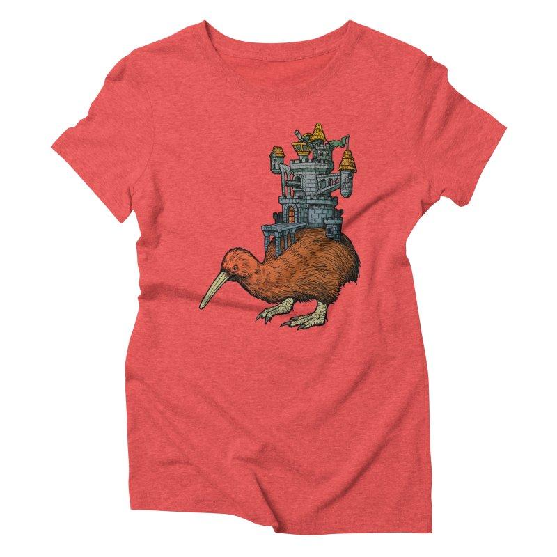 Kiwi Castle Women's Triblend T-shirt by Octophant's Artist Shop