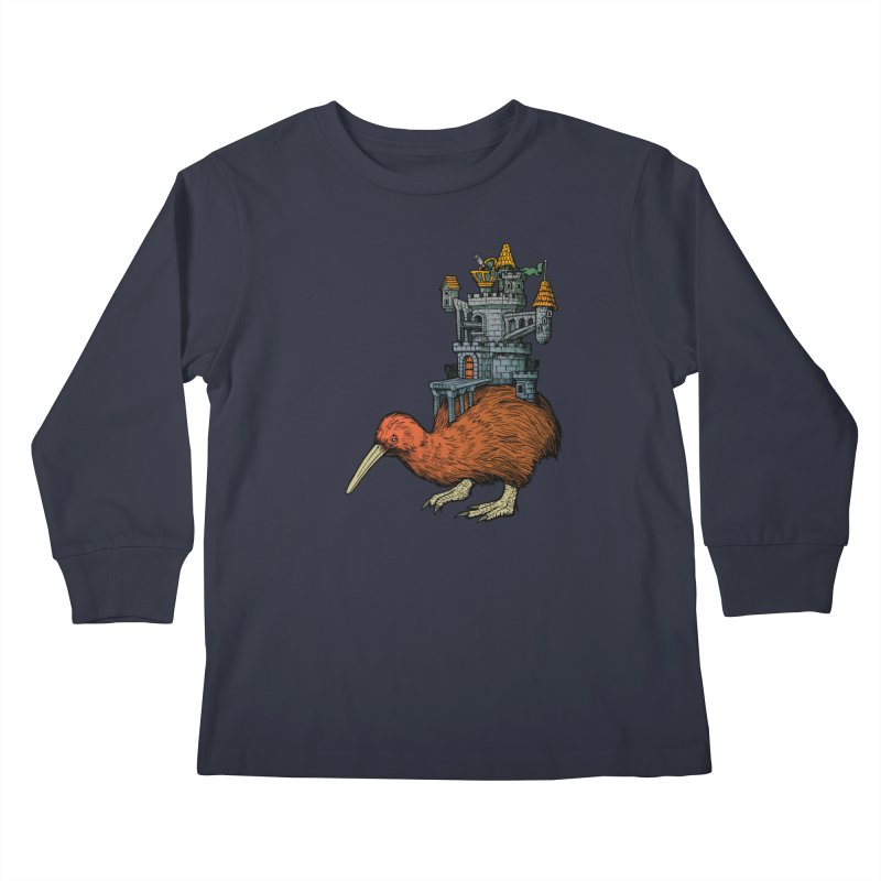 Kiwi Castle Kids Longsleeve T-Shirt by Octophant's Artist Shop