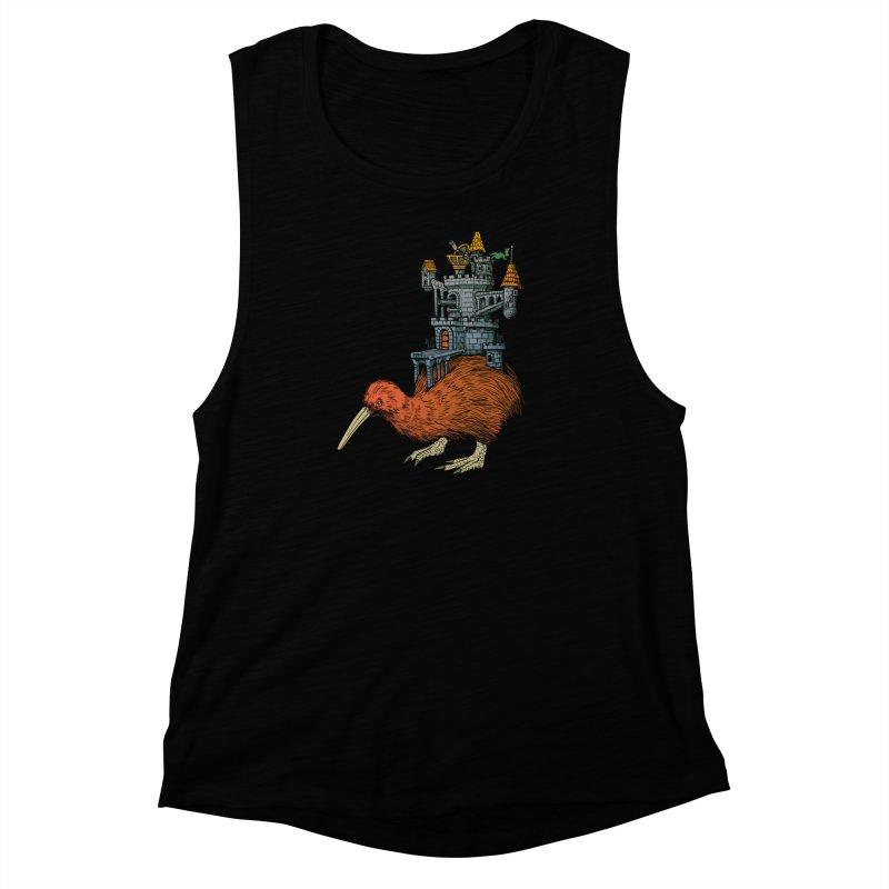 Kiwi Castle Women's Muscle Tank by Octophant's Artist Shop