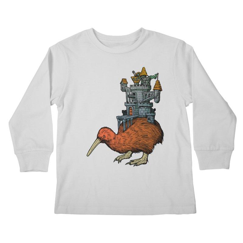 Kiwi Castle Kids Longsleeve T-Shirt by Octophant's Artist Shop