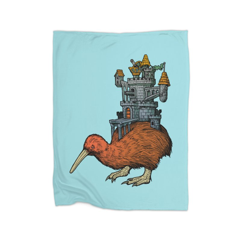 Kiwi Castle Home Blanket by Octophant's Artist Shop