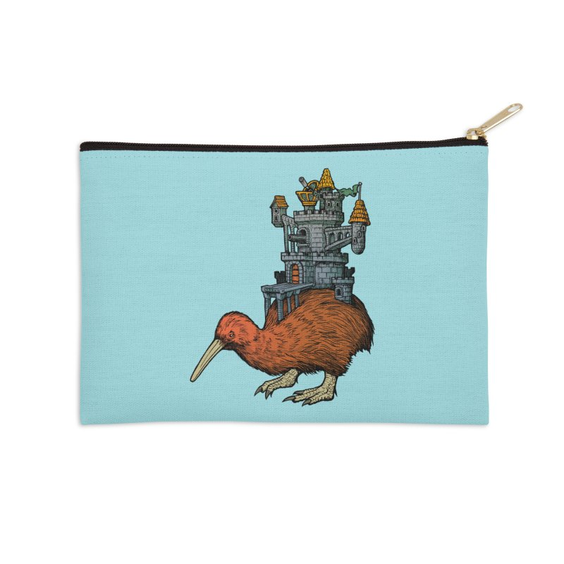 Kiwi Castle Accessories Zip Pouch by Octophant's Artist Shop