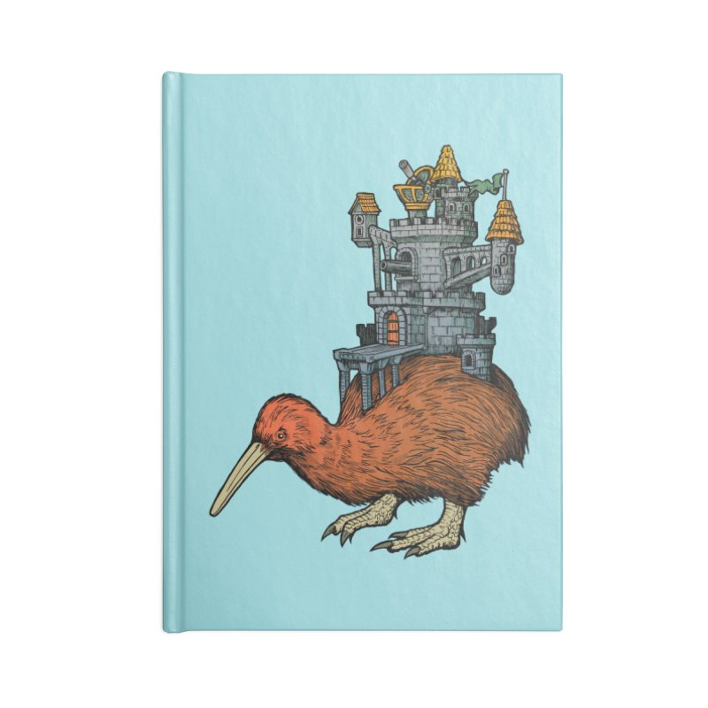 Kiwi Castle Accessories Notebook by Octophant's Artist Shop