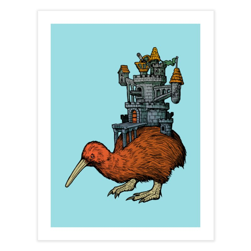 Kiwi Castle Home Fine Art Print by Octophant's Artist Shop