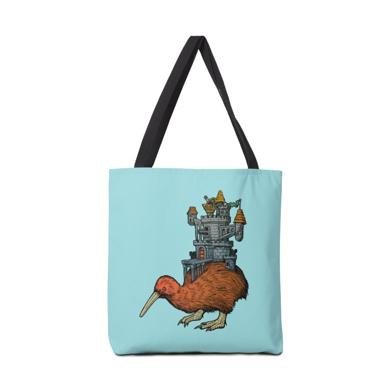 Kiwi Castle Accessories Bag by Octophant's Artist Shop