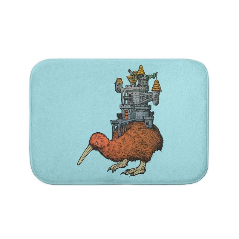 Kiwi Castle Home Bath Mat by Octophant's Artist Shop