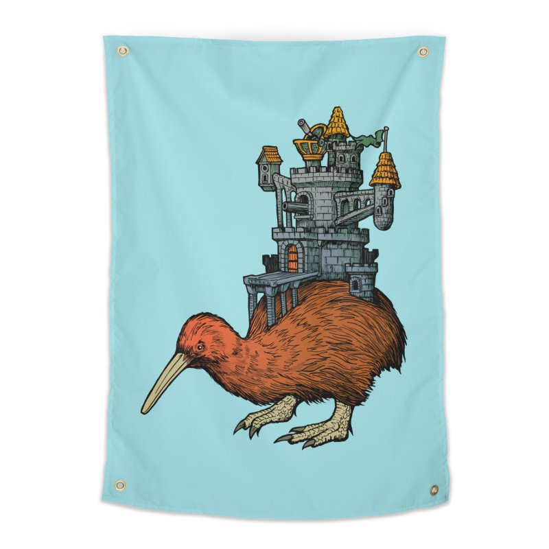 Kiwi Castle Home Tapestry by Octophant's Artist Shop