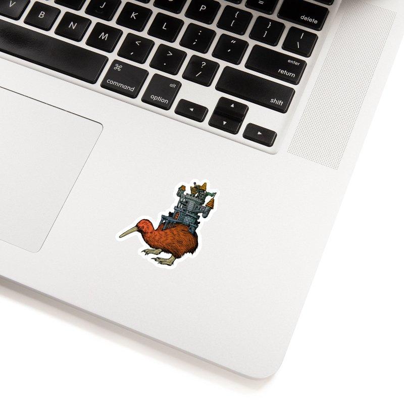 Kiwi Castle Accessories Sticker by Octophant's Artist Shop