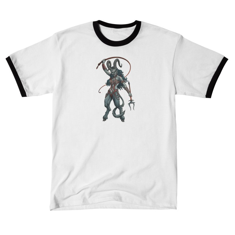 Krampus Pinup (Leather) Men's T-Shirt by Octophant's Artist Shop