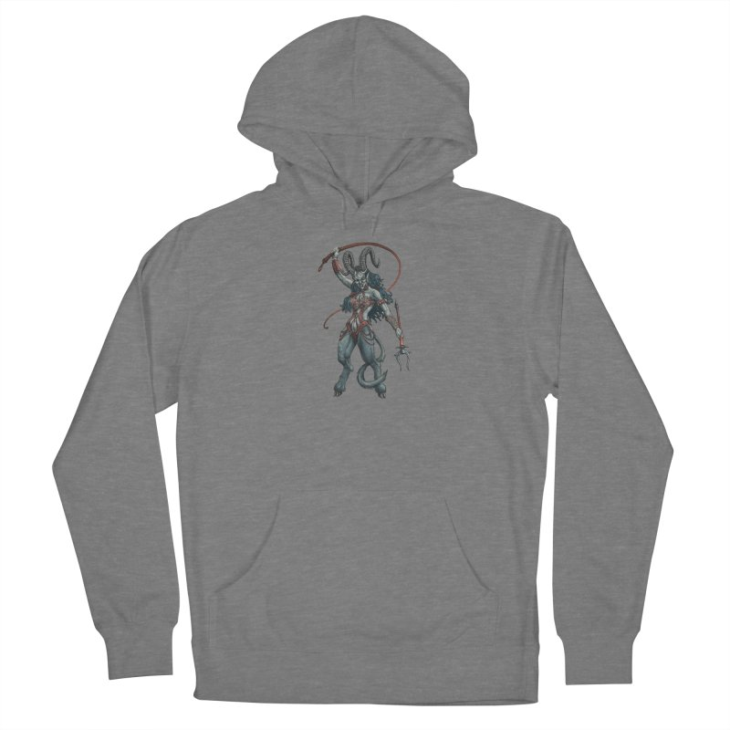 Krampus Pinup (Leather) Women's Pullover Hoody by Octophant's Artist Shop
