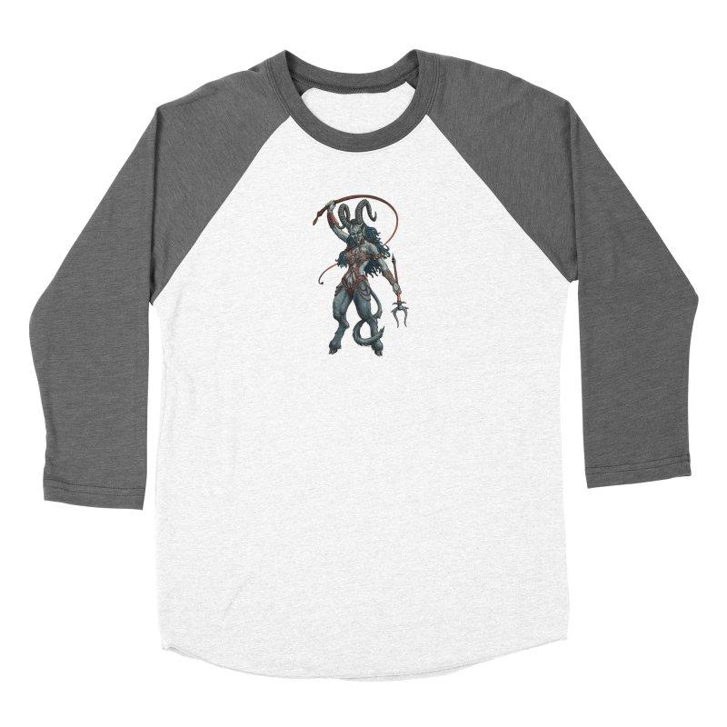 Krampus Pinup (Leather) Women's Longsleeve T-Shirt by Octophant's Artist Shop
