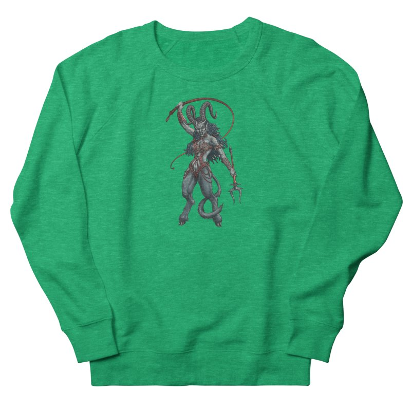 Krampus Pinup (Leather) Women's Sweatshirt by Octophant's Artist Shop