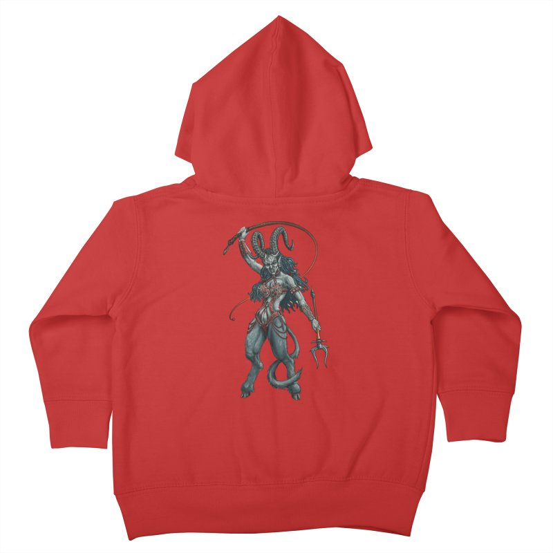 Krampus Pinup (Leather) Kids Toddler Zip-Up Hoody by Octophant's Artist Shop