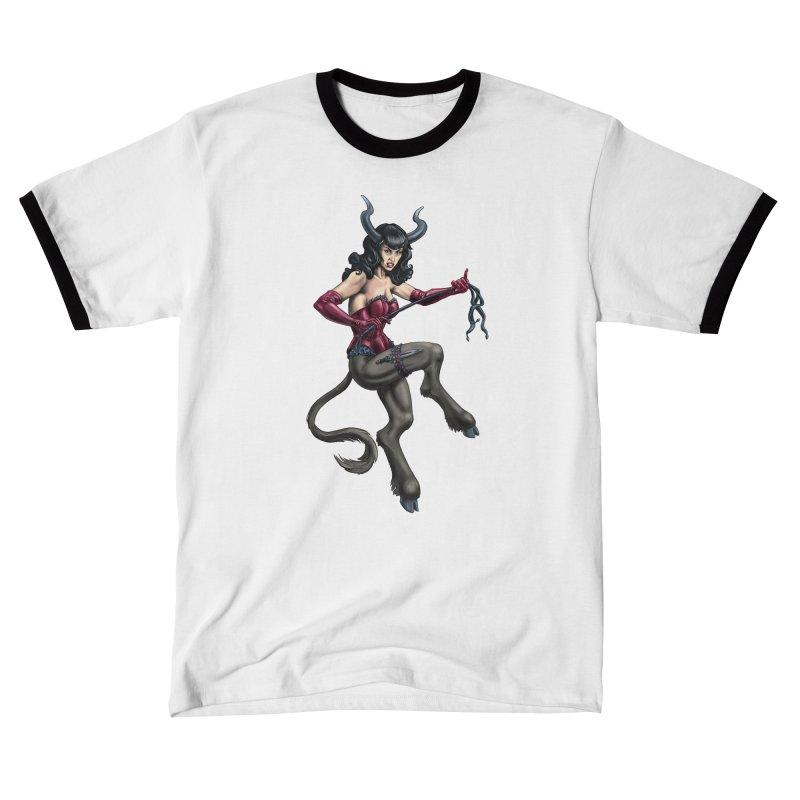 Krampus Pinup (Satin) Women's T-Shirt by Octophant's Artist Shop