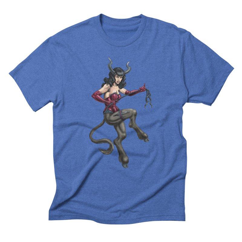 Krampus Pinup (Satin) Men's T-Shirt by Octophant's Artist Shop